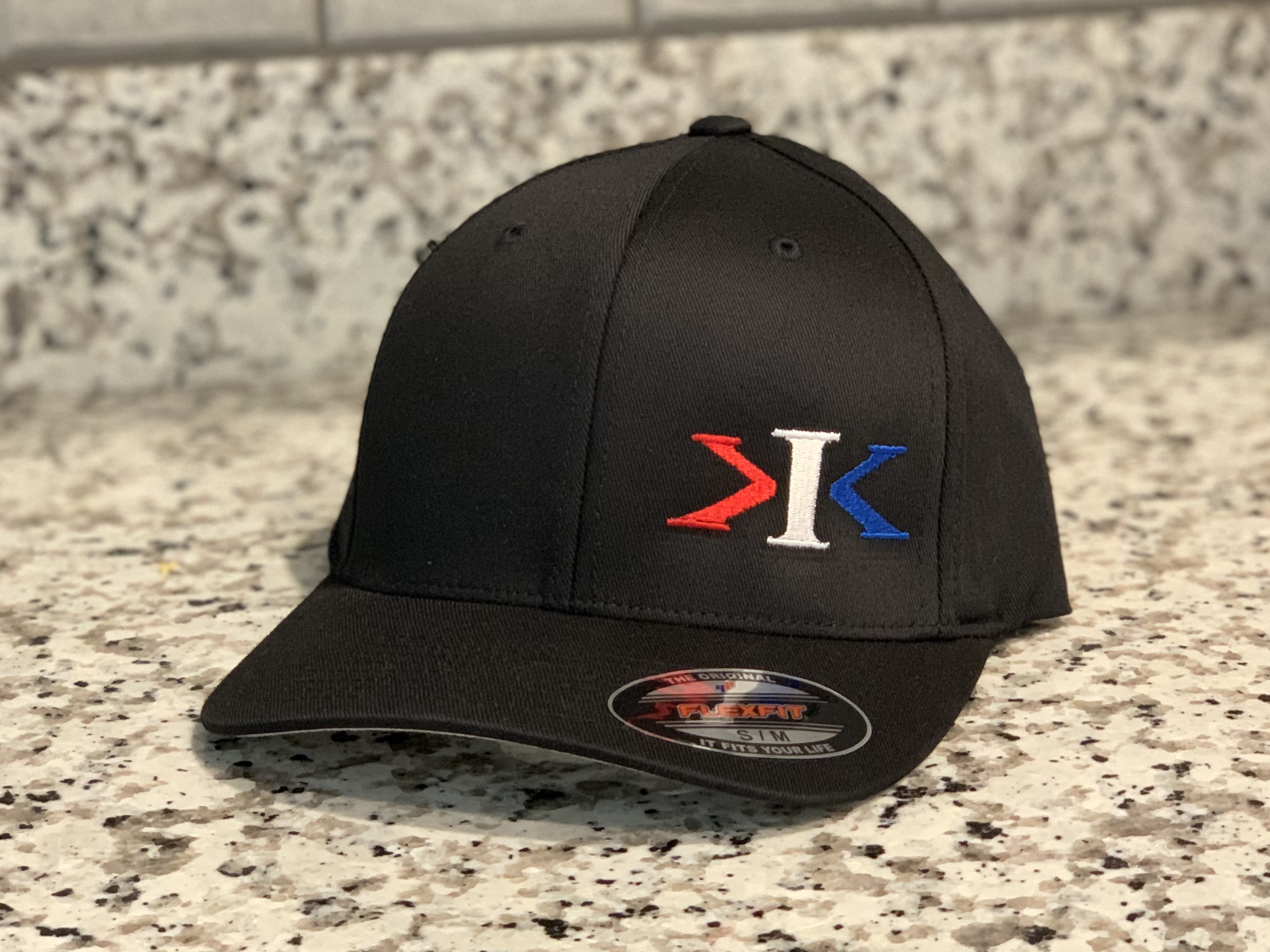 3 Color KIK Logo FlexFit Round Bill