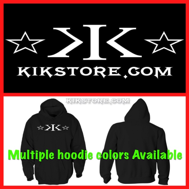 *PRE ORDER ONLY!* KIK Logo Hoodie (front only)
