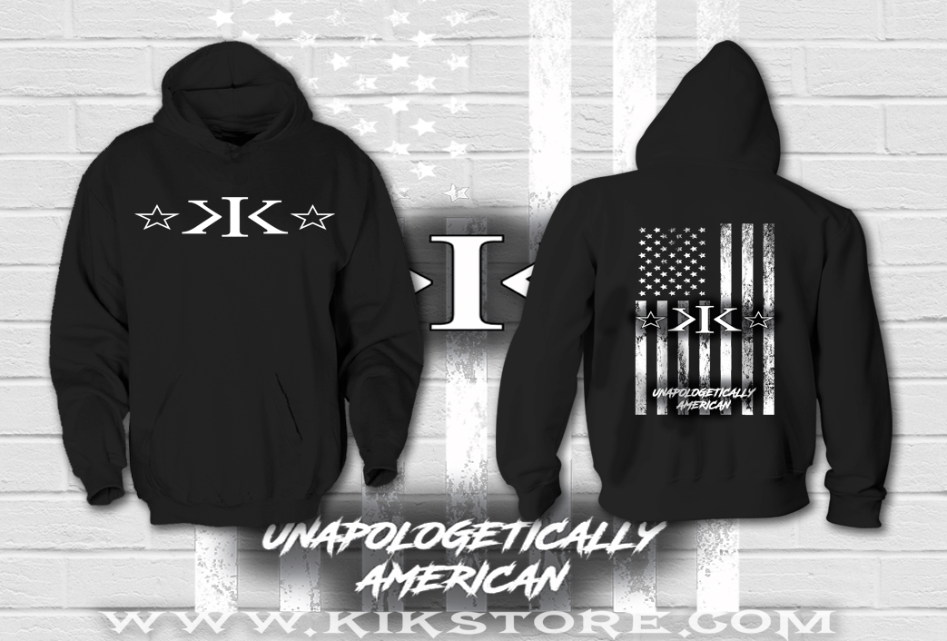 PRE ORDER ONLY! Unapologetically American Hoodie Black