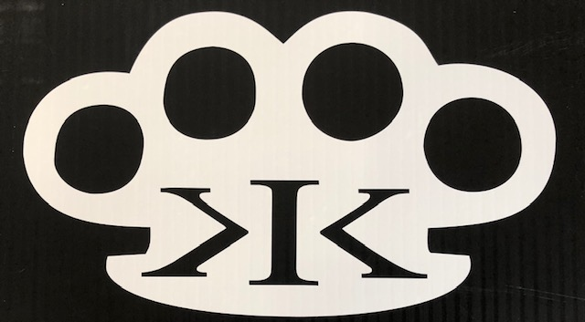 K.I.K. Brass Knuckles Sticker