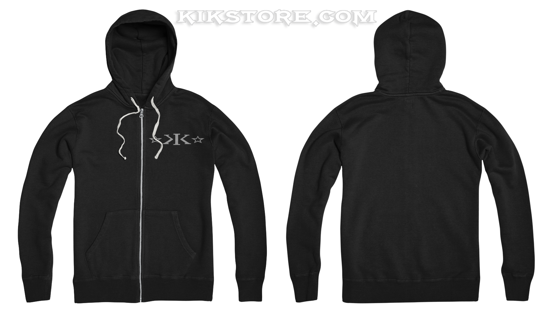 Zip-Up Hoodie * BLACK * 9.3 oz.