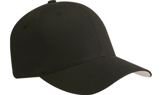 Hat - FlexFit Round-Bill - Black